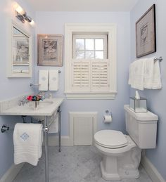 Natural light will enhance the color of your bathroom small bathroom light blue color
