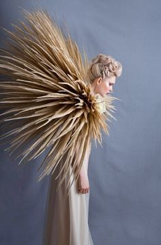 Image via We Heart It #designer #editorial #fashion #feather #model by hattie