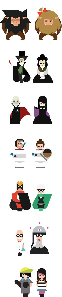 Wow!!! I really like these couples by Hey studio. And on their website you can find more.