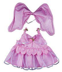 "Pink Butterfly Outfit for 14 – 18"" stuffed animals, teddy bears, including Build A Bear and Vermont Teddy Bear!"
