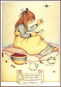 Mary Engelbreit (1978) Strawberries Sugar And Cream