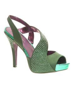 Look what I found on #zulily! Green Royal Occasion Sandal by Poetic Licence #zulilyfinds