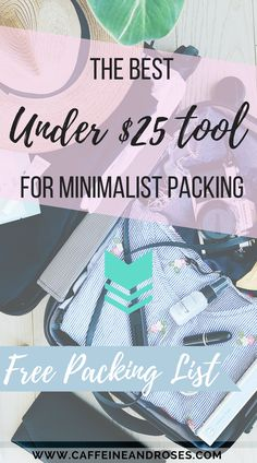 The 5-step guide to minimalist carry on packing - plus free packing checklist! Head over to Caffeine & Roses to find out my secret trick!