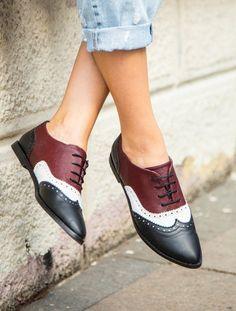 Valera Bordo Siyah Oxford Ayakkabı
