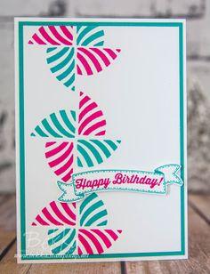 Stampin' Up! UK Feeling Crafty - Bekka Prideaux Stampin' Up! UK Independent Demonstrator: Swirly Bird Pinwheel Birthday Card