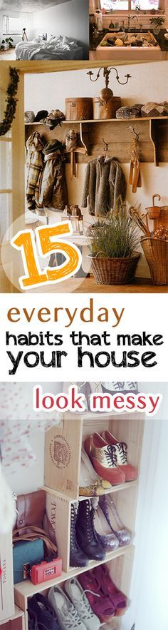 Make your house look more organized with these easy tips!