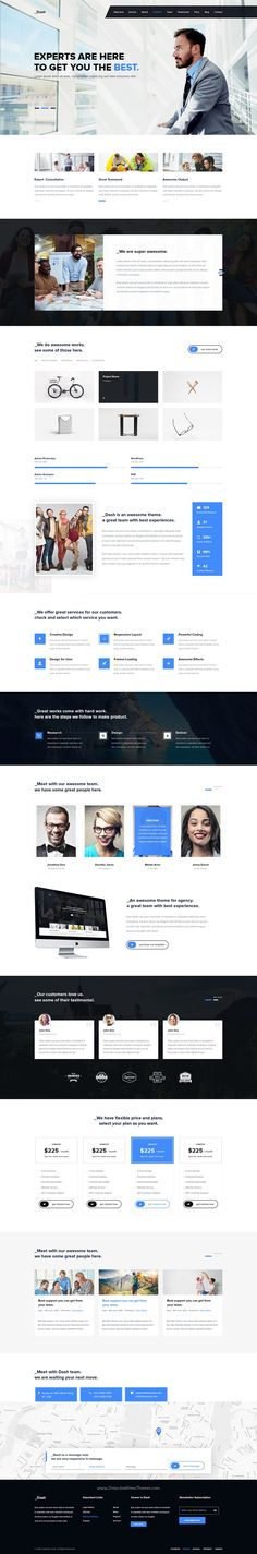 Dash is modern and clean design premium 4 in 1 #PSD #template for multipurpose #business website download now➯ https://themeforest.net/item/dash-creative-agency-portfolio-onepage-template/16951779?ref=Datasata
