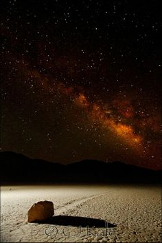 Milky Way Over Death Valley...Mystery Moving Rocks Trails...