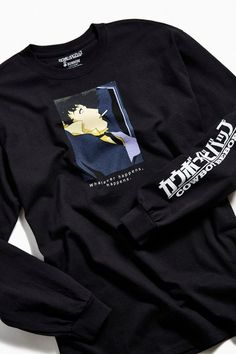 Shop Cowboy Bebop Whatever Happens Long Sleeve Tee at Urban Outfitters today. We carry all the latest styles, colors and brands for you to choose from right here. Anime Inspired Outfits, Anime Outfits, Cool Outfits, Japan Outfits, Fashion Outfits, Fasion, Fashion Styles, Fashion Ideas, Men's Fashion