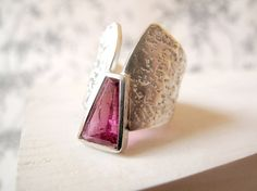 Cleopatra Ring featuring Rubelite Tourmaline by Marta Sanchez Oms