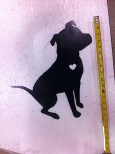 Pitt Bull metal cutout about 16-17 inches tall $45