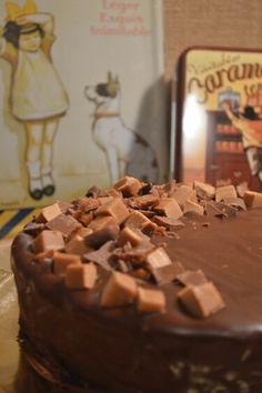 Choco-caramel cheesecake