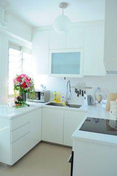 Kompakte Küchen einrichtungen modern glanzvoll einrichtung oberschränke