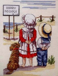 Schema punto croce Sorry No Dogs 1 Cross Stitch Sea, Cross Stitch For Kids, Beaded Cross Stitch, Cross Stitch Embroidery, Hand Embroidery, Cross Stitch Designs, Cross Stitch Patterns, Cross Stitch Collection, Cross Stitch Pictures