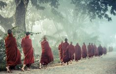 Monks in the fog At Inle, Myanmar by Philippe CAP on Tibet, Theravada Buddhism, Les Continents, India Culture, Buddhist Monk, Morning View, Southeast Asia, Martial Arts, Character Inspiration