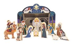 """$20.17-$29.98 Melissa & Doug Nativity Set - This child-friendly, wooden nativity set provides a """"please touch"""" holiday experience. The four-piece stable is easy to assemble and the 11 figures encourage your child to re-enact the events of that Christmas Day long ago. A retelling of the Christmas story is included on the package to help create a treasured family tradition for the holiday. http://www.amazon.com/dp/B0043RSSHI/?tag=pin2wine-20"""