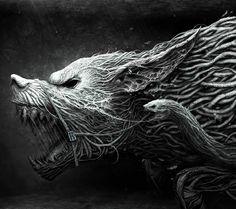 Fantasy Dark Wolf