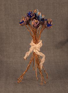 View pictures of Kathryn's unique handmade copper enamel sculptures.