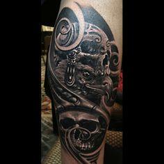 Tattoo by Remigijus Cizauskas at Remis Tattoo Bad Tattoos, Cute Tattoos, I Tattoo, Just Ink, Art Pictures, Art Pics, Body Modifications, Tatting, Skull