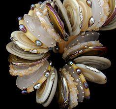 organic lampwork bead