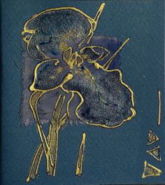 Darkblue iris  blank greeting card for any occasion by Vlada19, $7,00