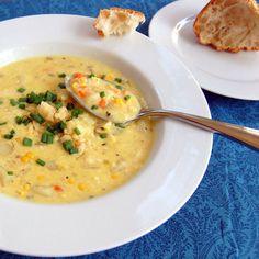 Vegetarian Corn Chowder with Cheddar