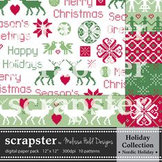 Nordic Digital Patterns by ScrapsterbyMHdesigns on Etsy, $4.50