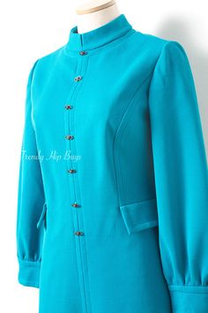 Mod vestido Vintage de color turquesa por TrendyHipBuysVintage