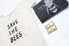 Womens Save The Bees Tshirt Bundle Bamboo Organic by naturwrk