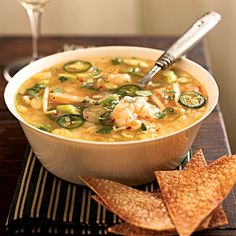 Spicy Shrimp and Rice Soup - Cooking Light Recipe - looks good!