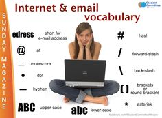 Internet & e-mail vocabulary #learnenglish