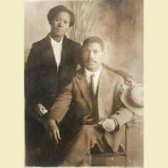 Vintage African American couple in Cotton Plant Arkansas