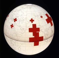 """Bad Carma""  Traveling the roads of countries with a red cross is dangerous. The larger the cross, the higher the chance to continue any given trip in an ambulance and end up in a hospital or graveyard."