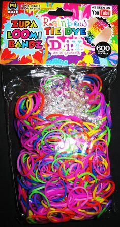 Items similar to Tie Dye Rainbow Loom Bands 600 pcs with 24 s-clips on Etsy Rainbow Loom Easy, Rainbow Loom Bands, Tie Dye Rainbow, Loom Bands Tutorial, Hair Milk, Unicorn Bedroom, Loom Bracelets, Birthday List, Party Printables