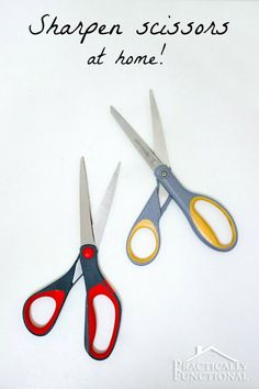 Learn how to sharpen scissors at home using sandpaper! It sharpens the blades as well as smooths out nicks and dings!