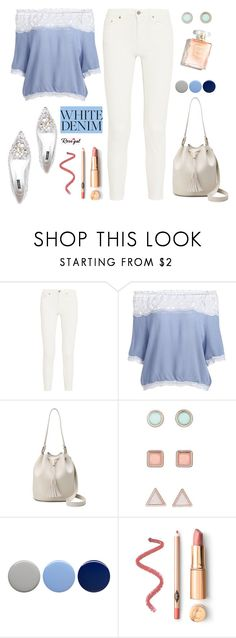 """Bright White: Summer Denim"" by samra-bv ❤ liked on Polyvore featuring Acne Studios, Burberry, Dolce&Gabbana, whitejeans, polyvorecontest and polyvorefashion"