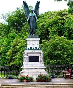 Cupar's Angel, memorial to the fallen No Time For Me, Statue Of Liberty, Angel, Memories, Spaces, Eyes, World, Travel, Liberty Statue