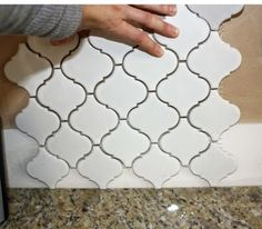 "I thought I did not want a backsplash until I found this: Merola Tile, ""Lantern."""
