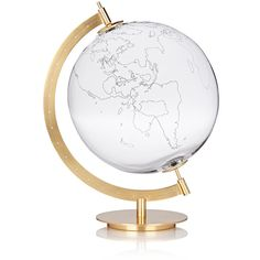 Secondome MOD. GROUND Map Globe (5,615 CAD) ❤ liked on Polyvore featuring home, home decor, decor, filler, colorless, map globe, mod home decor, modern home decor, map home decor and modern globe