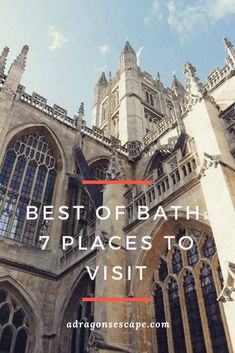 Bath Abbey - Bath, England. Bath is one of the most beautiful cities in England and one of the best travel destinations. Known worldwide for its hot thermal springs and striking Georgian architecture, the city of Bath has many top attractions to visit. Check out the travel guide by A Dragon's Escape!
