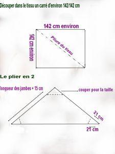 Tutorial/ Nähanleitung: Sarouel  easy, weit, diagonal