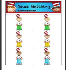 Free!! Seuss Card Matching!! Also domines!!! So FUN!
