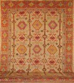 FR3996 Antique Turkish Oushak. Rugs. Home Décor. Color. Turkish Oushaks. Antique Rugs. Farzin Rugs. Dallas, Tx