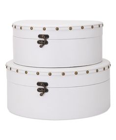 Another great find on #zulily! White Muniz Studded Box Set #zulilyfinds