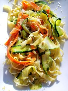 Veggie Ribbon Pasta by prouodiotaliancook #Pasta #Veggie #prouditaliancook