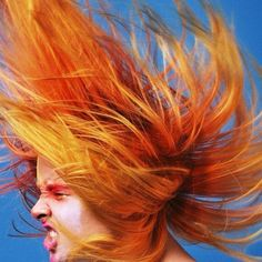 The photographs that @hateboy2 posts are always #offthehook . This #amazing image, by @rakeemc, is no exception. For Palma's #fierce  #headbanging #mane, #manicpanic was used in #psychedelicsunset , #electricbanana , and #prettyflamingo
