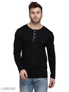 Checkout this latest Tshirts Product Name: *Trendy Men's Tshirt* Fabric: Cotton Blend Sleeve Length: Long Sleeves Pattern: Solid Multipack: 1 Sizes: S (Chest Size: 39 in, Length Size: 28 in)  M (Chest Size: 40 in, Length Size: 28 in)  L (Chest Size: 42 in, Length Size: 28.5 in)  XL (Chest Size: 44 in, Length Size: 29 in)  Country of Origin: India Easy Returns Available In Case Of Any Issue   Catalog Rating: ★4 (371)  Catalog Name: Classic Latest Men Tshirts CatalogID_889036 C70-SC1205 Code: 452-5887335-645