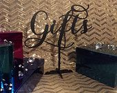 Gifts! Table Sign for Weddings and Birthdays