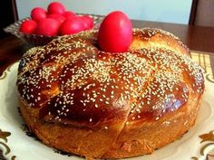 Making Tsoureki (Greek Easter Bread) for Orthdox Easter this Sunday. Happy Orthodox Easter from Eyecon Optometry! Greek Easter Bread, Greek Bread, Greek Sweets, Greek Desserts, Easter Recipes, Holiday Recipes, Dessert Recipes, Easter Food, Yogurt Recipes