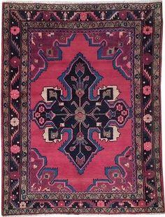 Dining room potential Red Hand Knotted 5x6 Persian Rug Elegant Home Decor Original Hamadan Rug